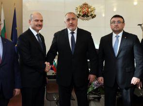 Бойко Борисов се срещна с министъра на вътрешните работи на Турция Сюлейман Сойлу